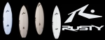 2011 RUSTY SURFBOARDS DESIGNS