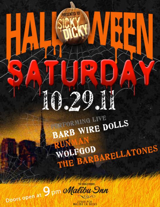 Halloween Saturday at the Malibu Inn