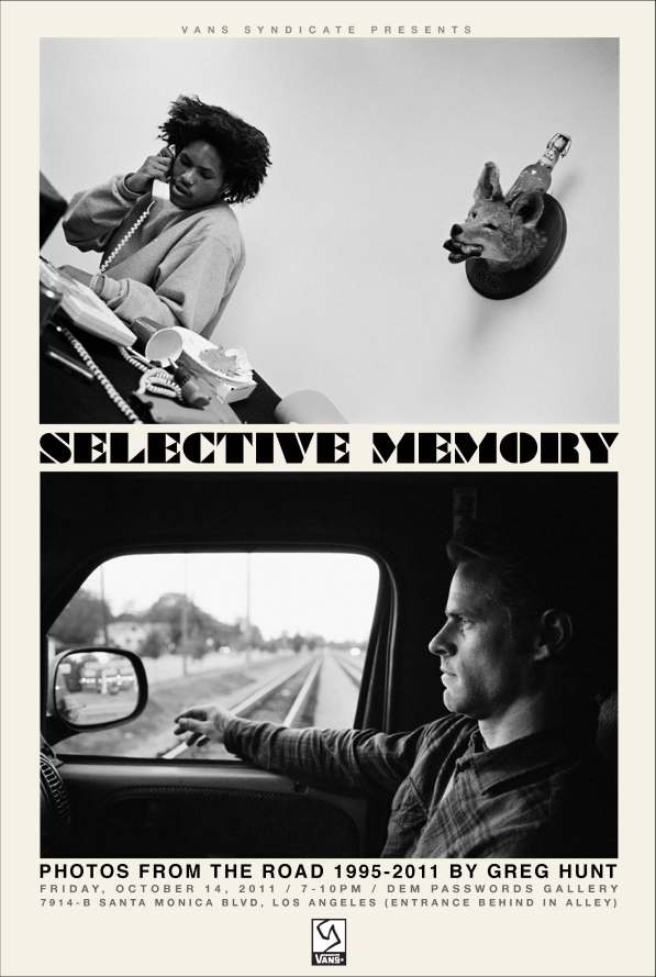 Vans Syndicate presents Selective Memory, first solo exhibition by Greg Hunt at Dem Passwords